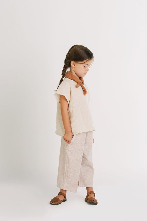 Go Gently Nation Tops + Bodysuits 2y Gauze Flutter Blouse
