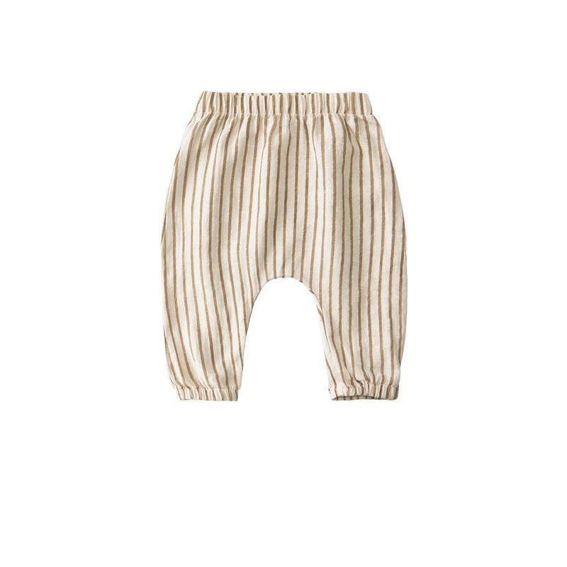 Go Gently Nation Tops + Bodysuits Woven Baby Pant - Fennel Stripe