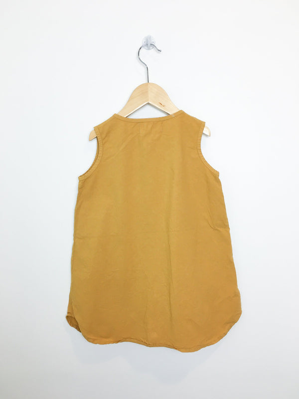 Go Gently Nation Tunic 3T / Like New Re-Cycle Mustard Yellow Sleeveless Tunic