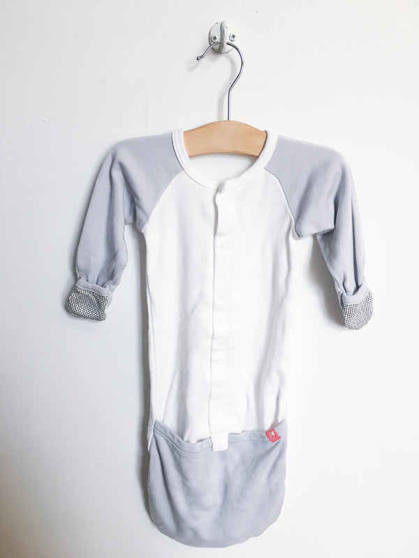 Goumi Kids Pyjamas 0-3m / Gently Used Re-Cycle Grey and White Sleeper