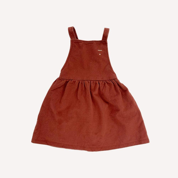 Gray Label Dress 3-4y / Preloved Re-Cycle Solid Brown Pinafore Dress