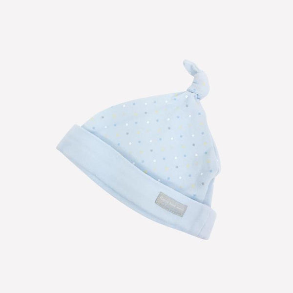 Guess How Much I Love You Baby Hat OS / Like New Re-Cycle Blue Baby Hat with Polka Dots