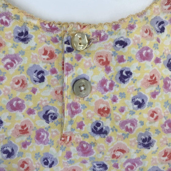 Hanna Andersson Dress 3y / Preloved Re-Cycle Floral Yellow Dress