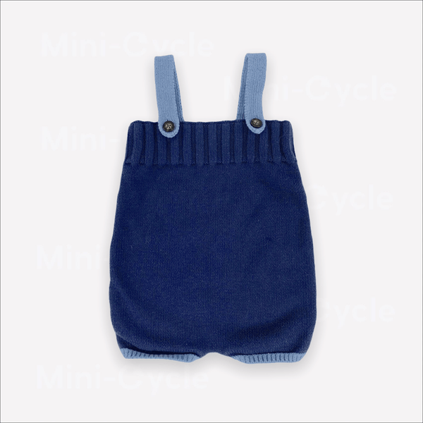 Hanna Andersson Overalls 12m / Preloved Re-Cycle Solid Blue Overall Bloomers