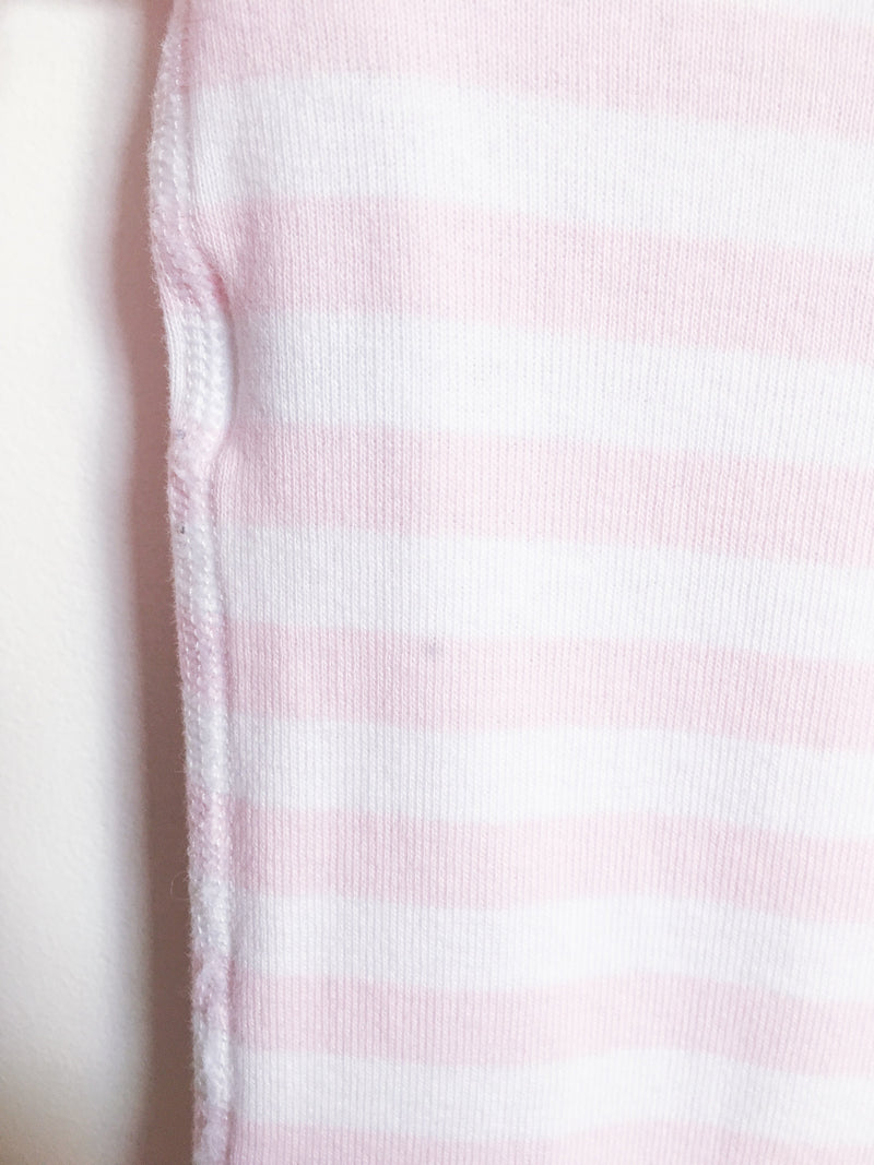 Hanna Andersson Pyjamas 0-6m / Gently Used Re-Cycle Light Pink and White Striped Pyjama