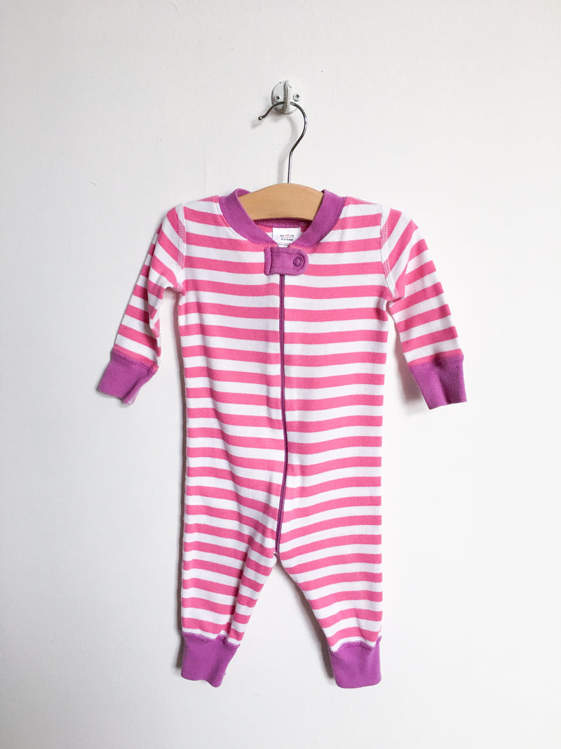 Hanna Andersson Pyjamas 6-9m / Gently Used Re-Cycle Pink and White Stripe Pyjama