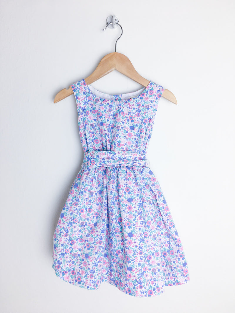 Hatley Dress 2T / Gently Used Re-Cycle Pink and Blue Floral Dress