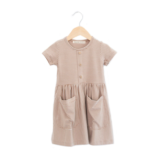 Haven Kids Dress Meadow Dress - Acorn Stripes