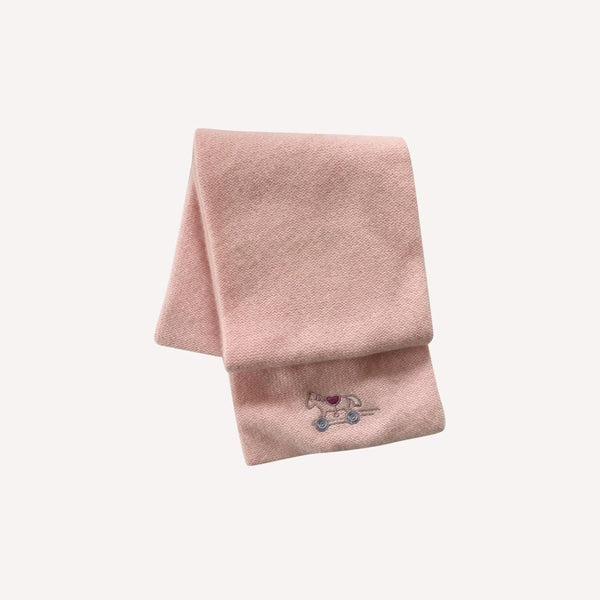 Hermes Winter Acc OS / Preloved Re-Cycle Pink Adada Cashmere Scarf