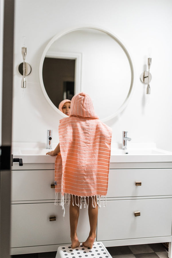 House of Jude Accessories Blush Children's Poncho Turkish Towel