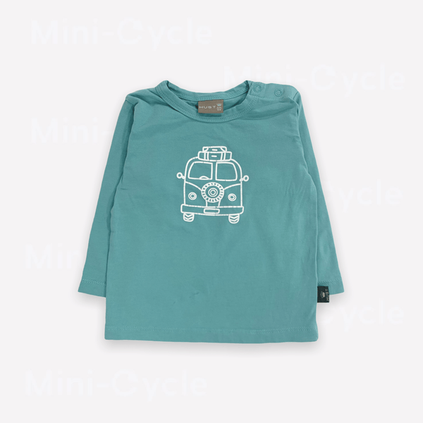 Hust & Claire Long-Sleeve Tee 6m / Like New Re-Cycle Graphic Turquoise Long-Sleeve Tee
