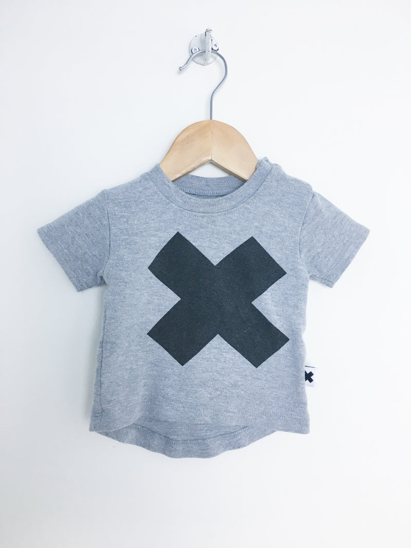 Hux Baby T-Shirt 0-3m / Gently Used Re-Cycle Grey X Baby T-Shirt