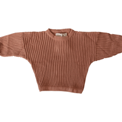 Essential Knit Pullover - Rust