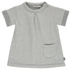 Imps&Elfs Dresses + Skirts 6-9m Soft Cotton Short Sleeve Grey Dress