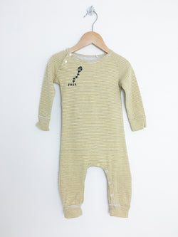 Imps&Elfs Pyjamas 9-12m / Gently Used Re-Cycle Yellow and White Striped FREE Baby Jumpsuit