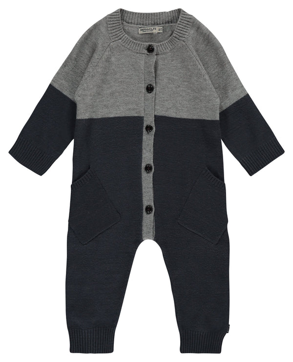 Imps&Elfs Rompers + Overalls 0-3m Dreamy Blue Play Suit