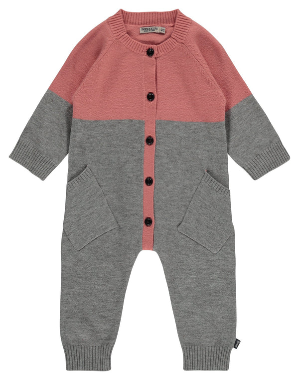 Imps&Elfs Rompers + Overalls 0-3m Dusty Pink Play Suit