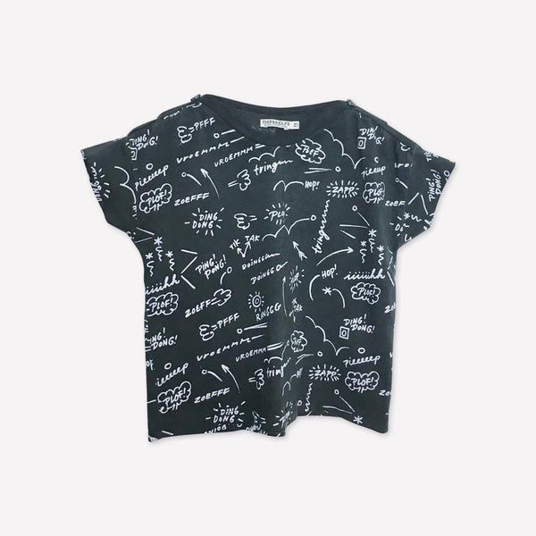 Imps&Elfs T-Shirt 6-12m / Like New Re-Cycle Graphic Black T-Shirt