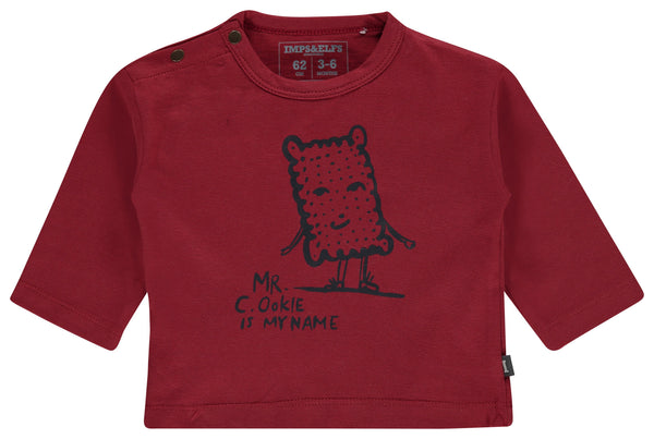 Imps&Elfs Tops + Bodysuits 3-6m Red Berry Long Sleeve T-Shirt