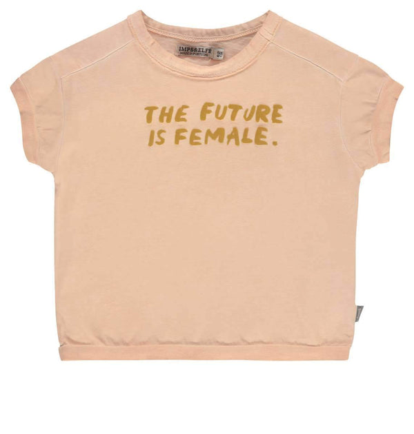 "Imps&Elfs Tops + Bodysuits 9-12m ""THE FUTURE IS FEMALE"" Pink T-shirt"