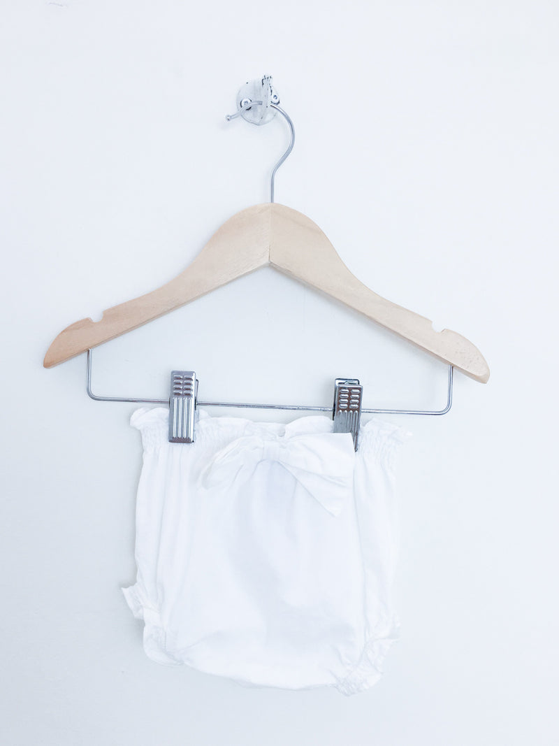 Jacadi Bottoms 3m / Gently Used Re-Cycle White Baby Bloomers