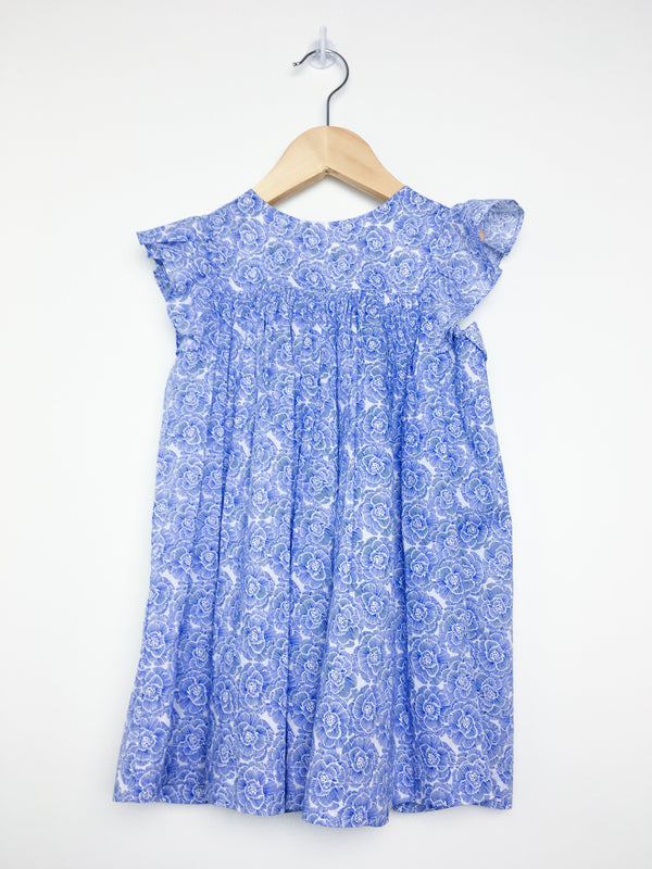Jacadi Dress 36m / Like New Re-Cycle Blue Flowered Dress with Matching Bloomers