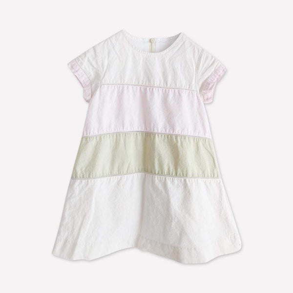 Jacadi Dress 4y / Preloved Re-Cycle Striped Cream Dress