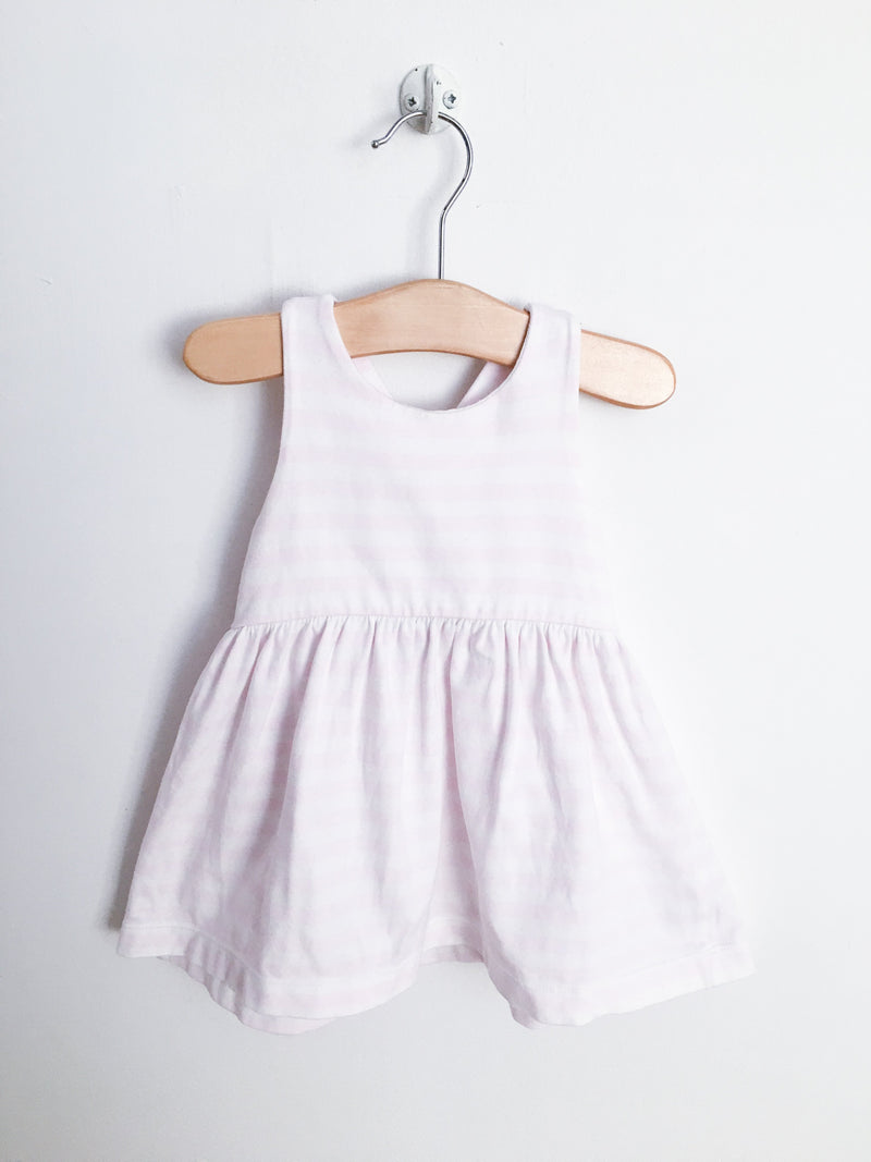 Jacadi Dresses + Skirts 12m / Gently Used Re-Cycle Pink and White Striped Dress