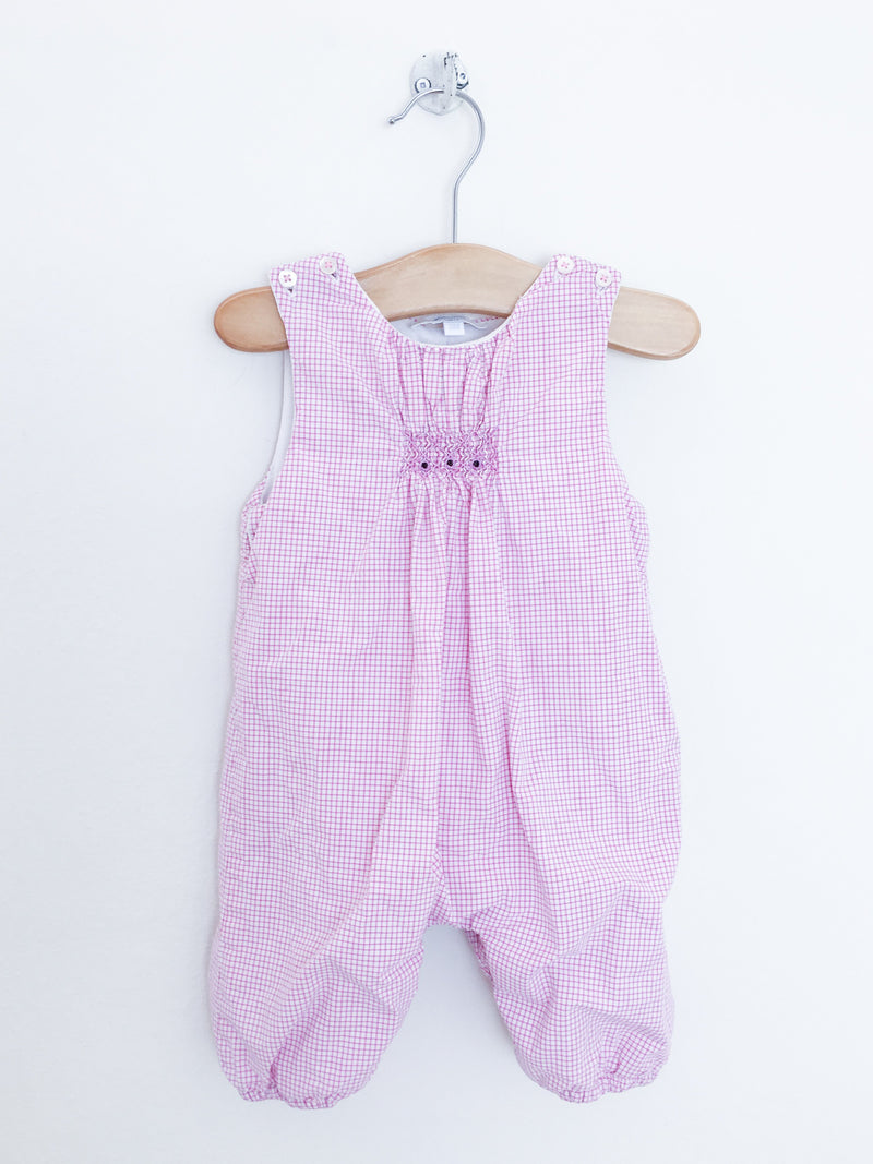 Jacadi Rompers + Overalls 3m / Gently Used Re-Cycle Checked Padded Baby Overalls