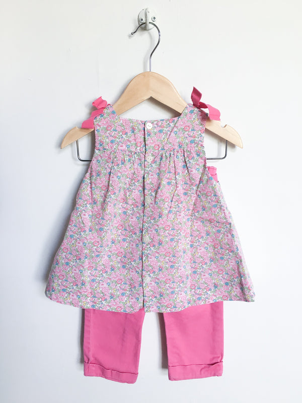 Jacadi Sets 18m / Gently Used Re-Cycle Floral Summer Tunic and Pant Set
