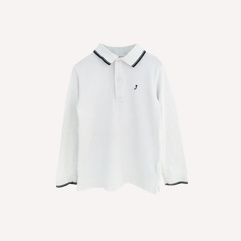 Jacadi Shirt 8y / Gently Used Re-Cycle Classic White and Navy Polo
