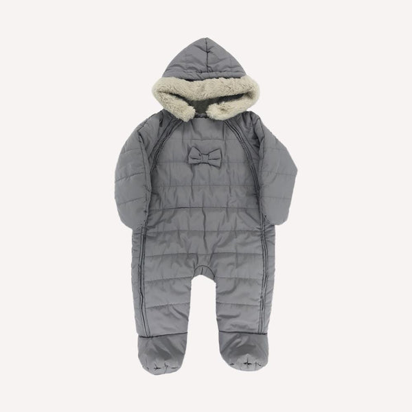 Jacadi Snowsuit 6m / Like New Re-Cycle Grey Quilted Snowsuit