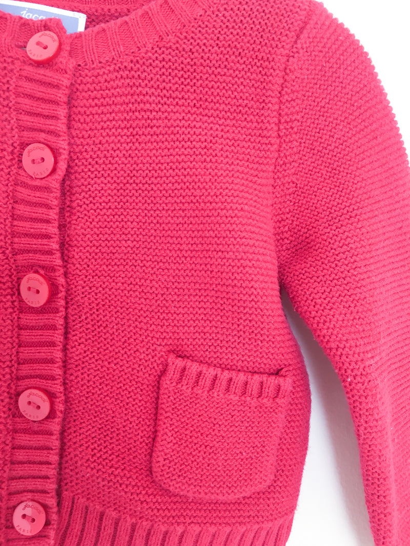 Jacadi Sweaters 12m / Gently Used Re-Cycle Red Cardigan