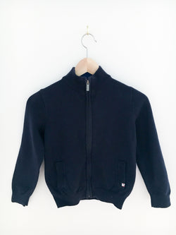 Jacadi Sweaters 8y / Gently Used Re-Cycle Zipped Navy Cardigan