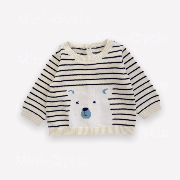 Jacadi Sweatshirt 3m / New Re-Cycle Solid Beige Sweater