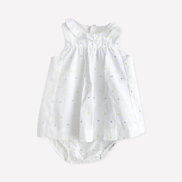 Jacadi Top + Bloomers 3m / Like New Re-Cycle Polka Dot White Top + Bloomers