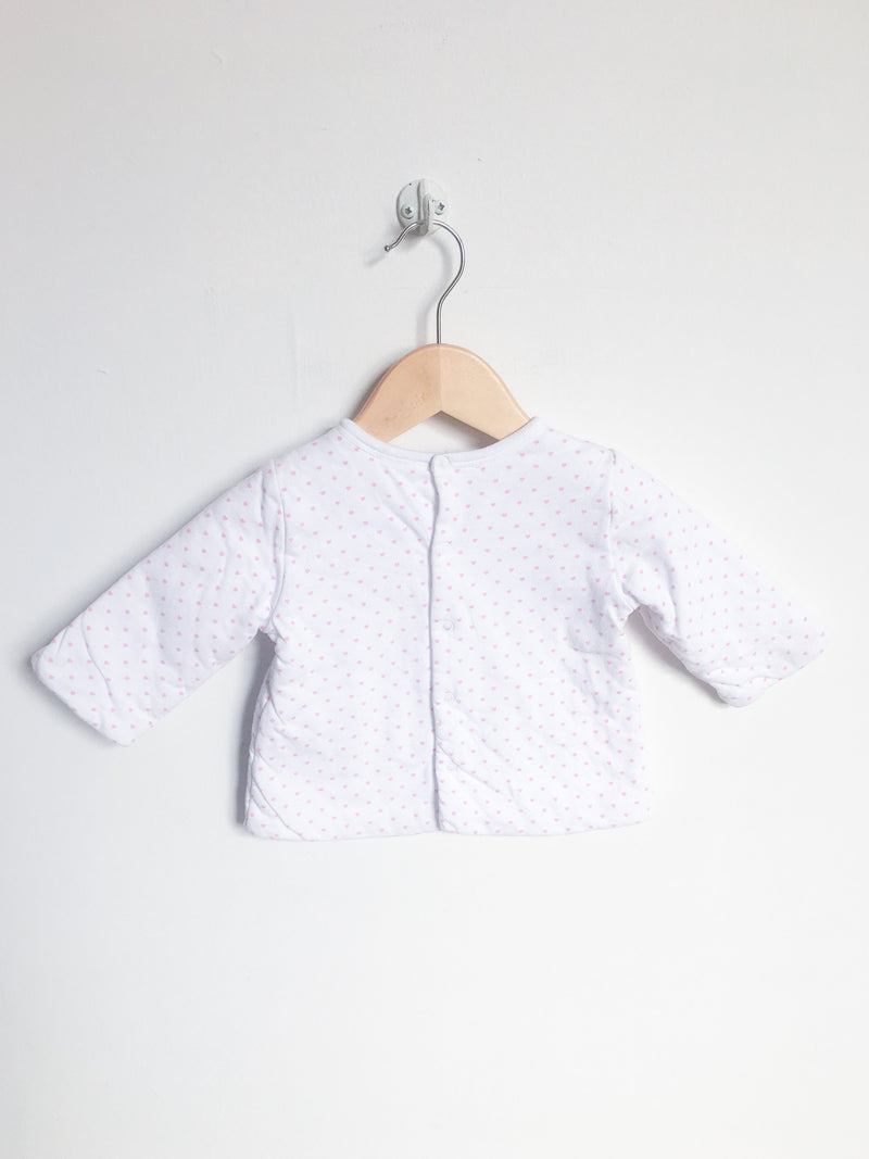 Jacadi Tops + Bodysuits 6m / Gently Used Re-Cycle Quilted Heart Top