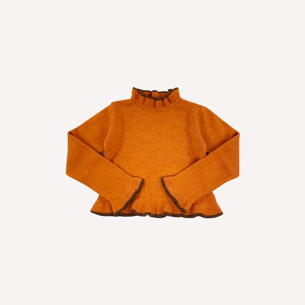 Jacadi Turtleneck 6y / Like New Re-Cycle Orange Turtleneck