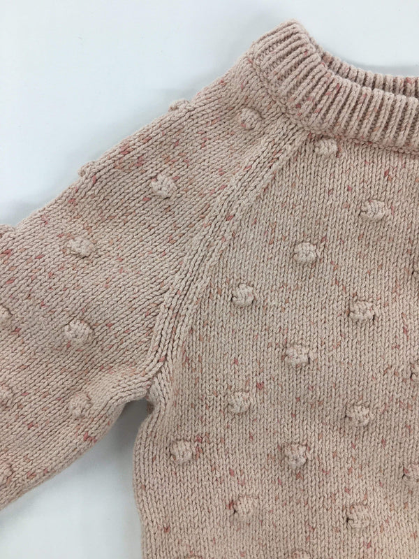 Jamie Kay Sweater 6-12m / Like New Re-Cycle  Dotty Knit - Raspberry Fleck Sweater