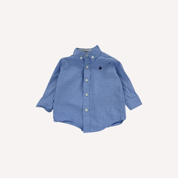 Janie And Jack Shirt 3-6m / Like New Re-Cycle Striped Blue Shirt