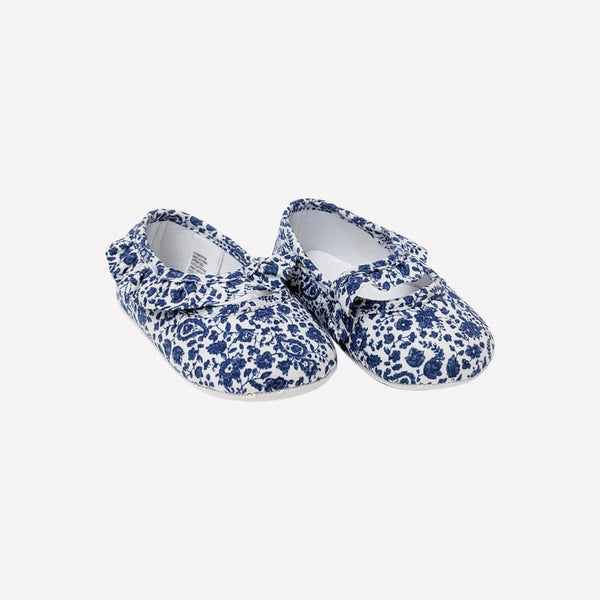 Janie And Jack Soft Sole Shoe US 4 / New Re-Cycle Floral Blue Soft Sole Shoe