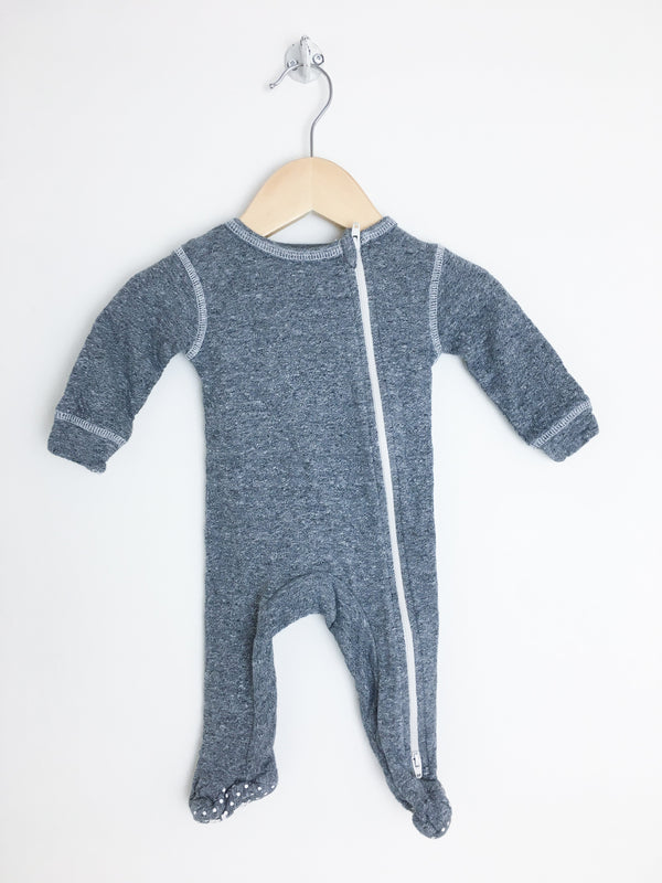 Juddlies Pyjamas NB / Gently Used Re-Cycle Charcoal Grey Baby Pyjama
