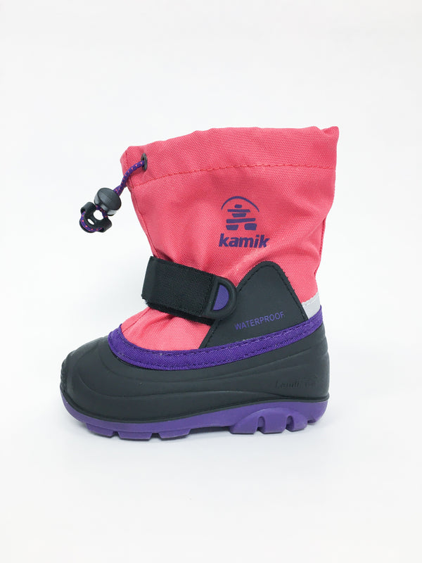 Kamik Boots US 6 / Like New Re-Cycle Purple and Pink Winter Boots -Waterbugt