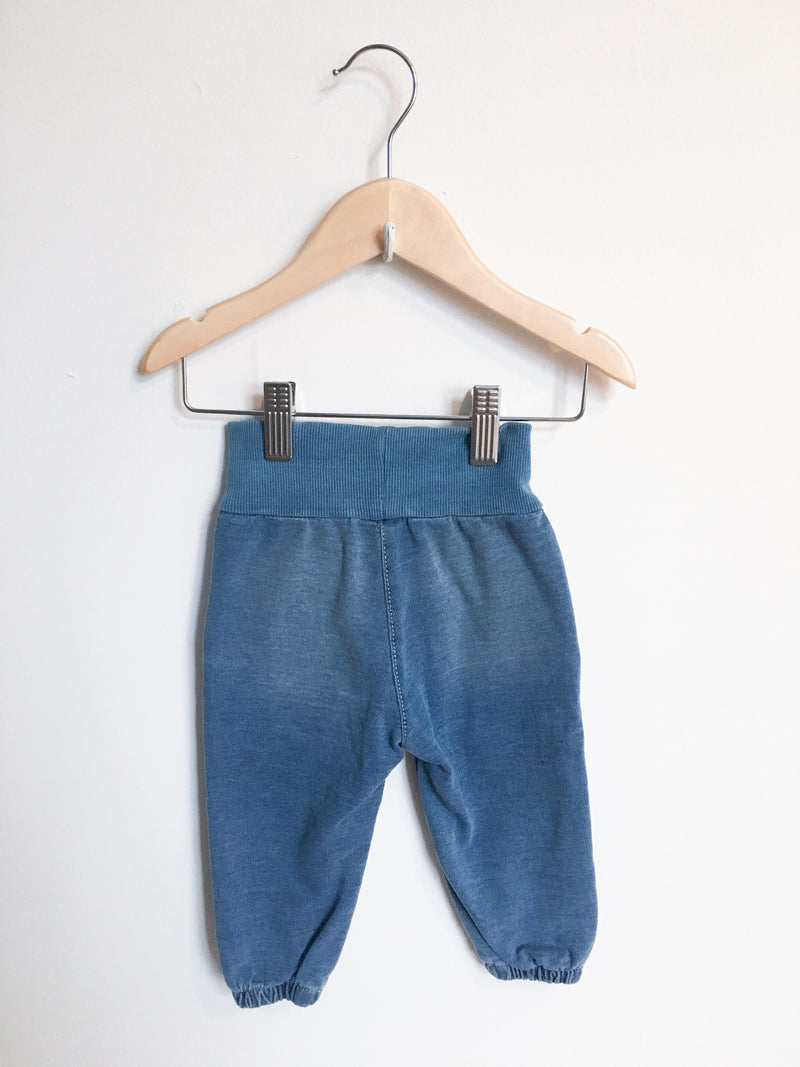 Kanz Bottoms 3m / Gently Used Re-Cycle Blue Soft Denim Joggers
