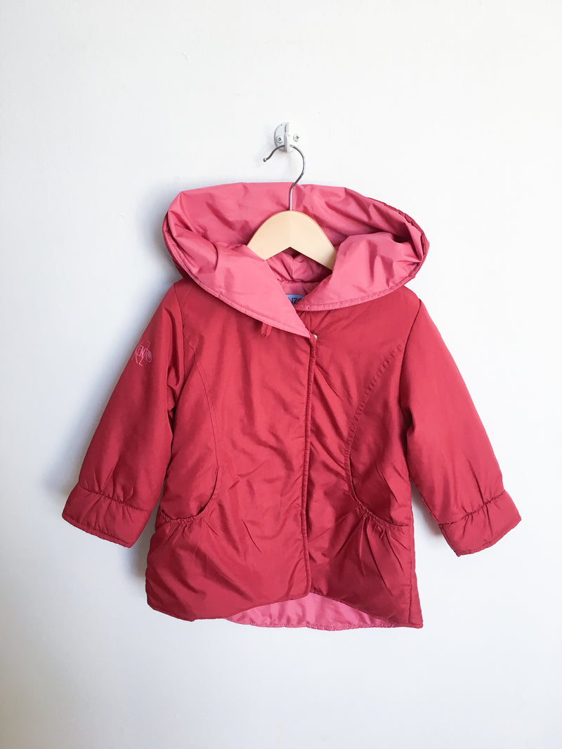 Kenzo Outerwear 2T / Gently Used Re-Cycle Red Hooded Jacket