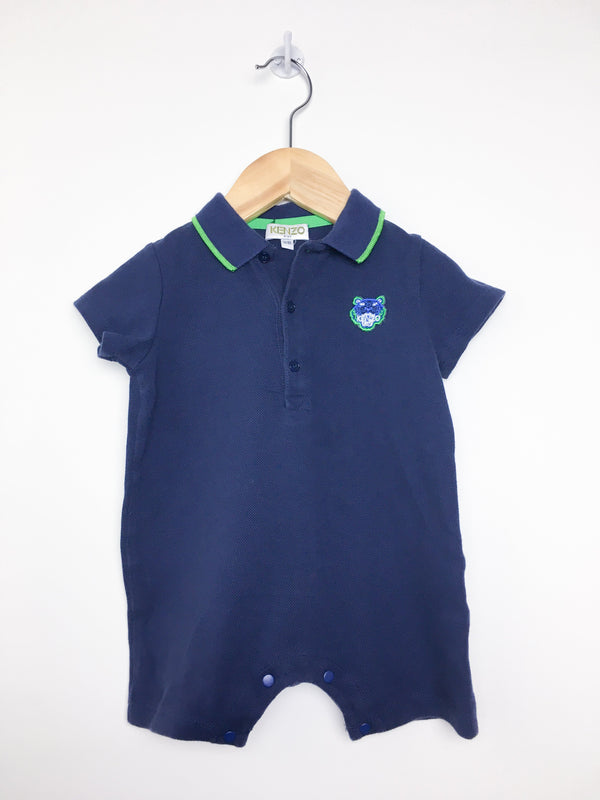 Kenzo Rompers 1y / Like New Re-Cycle Navy and Green Colored Romper