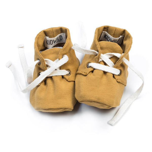 KidWild Accessories 0-3m Organic Baby Booties - Ochre