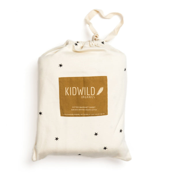 KidWild Accessories Organic Fitted Crib Sheet - Star