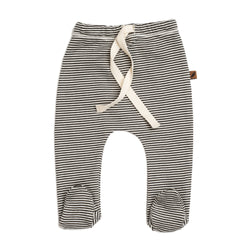 KidWild Bottoms 0-3m Organic Footed Pants - Stripe