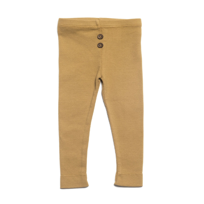 KidWild Bottoms 6-12m Organic Vintage Leggings - Ochre
